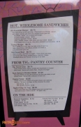 50's Prime Time Cafe Menu (sandwiches, pantry and sides)