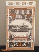 Starboard Lounge Menu Cover