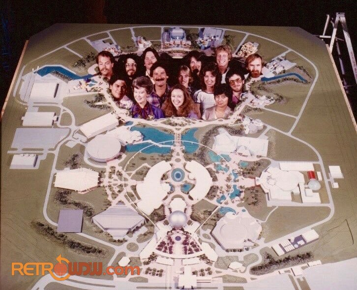 EPCOT Computer Central Sperry Model shortly after finished - Pic from Tom K Morris