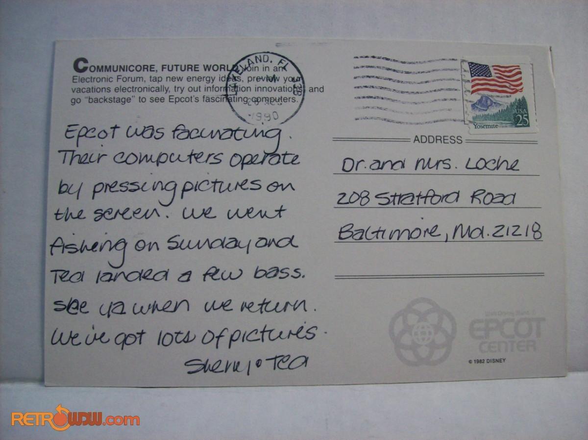 Postcard noting Communicore
