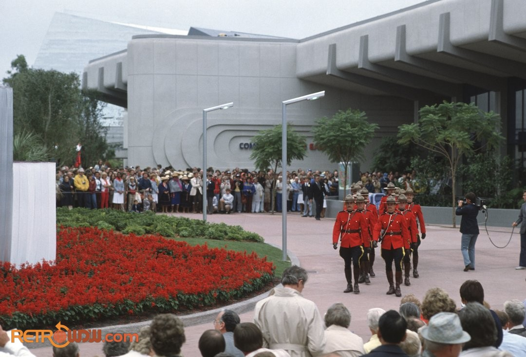 Communicore East Entrance in EPCOT Opening Ceremony 1982
