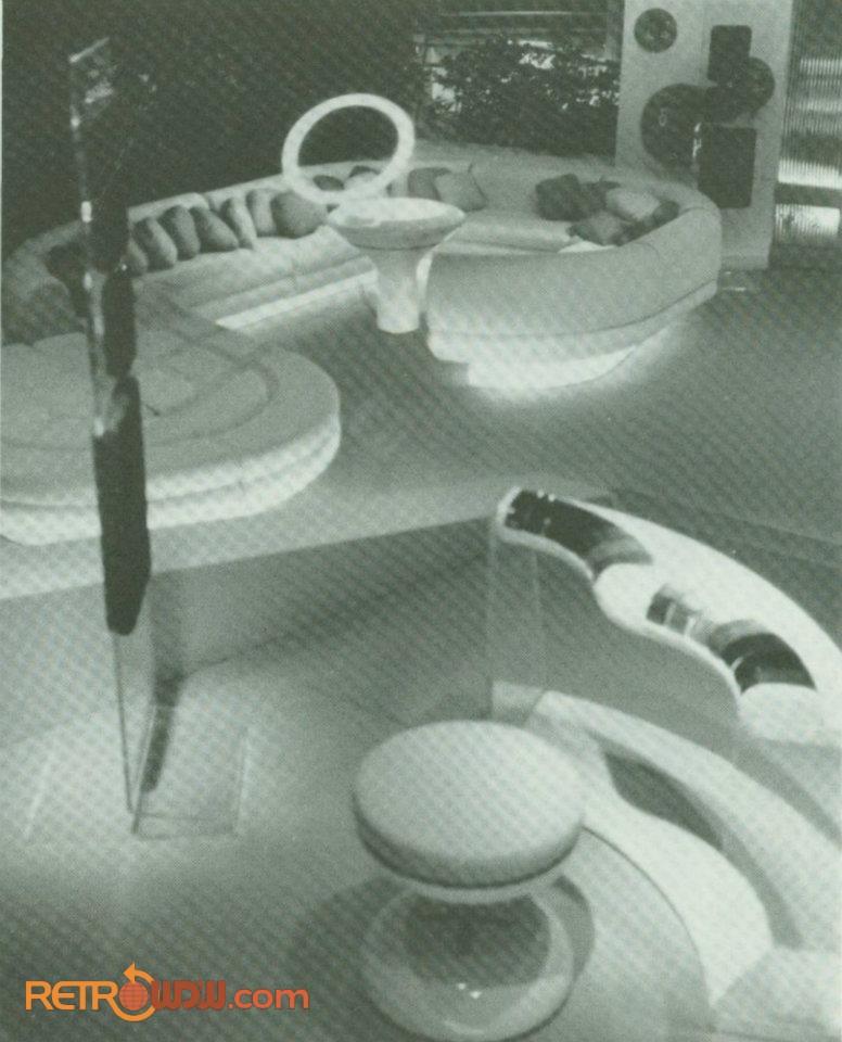 Imagineering study model of the urban habitat (Nova Cite) apartment scene