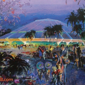 Horizons concept painting by Herb Ryman