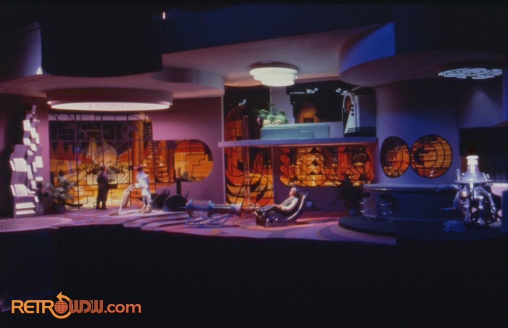 "Imagineering study model for the art deco scene of ""Looking Back at Tomorrow"""