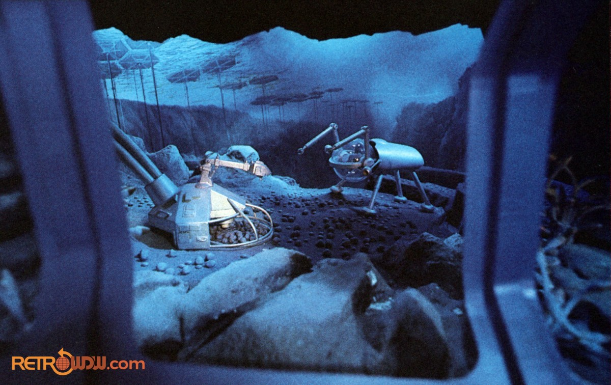 Imagineer study model for the Under Sea Mining scene