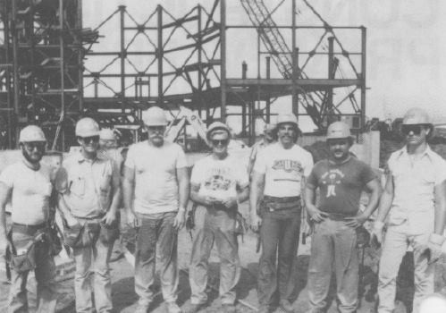 Part of the construction crew on Horizons