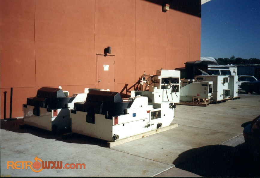 Omnimax Projectors Removed from the Building
