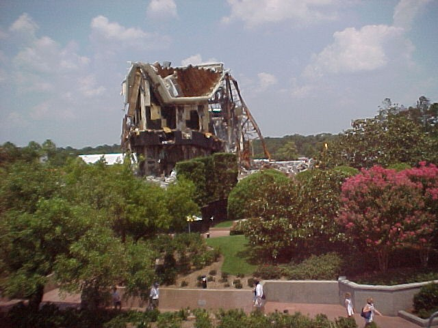 Horizons Demolition as Seen From the Monorail