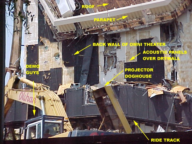Horizons Demolition - Omnimax Projection room (labeled)