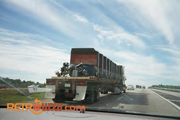 Horizons Ride Vehicles Being Trucked Away...