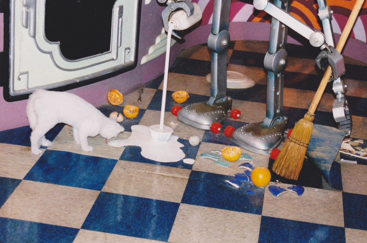 Robotic Chef Trying to Clean Up a Mess