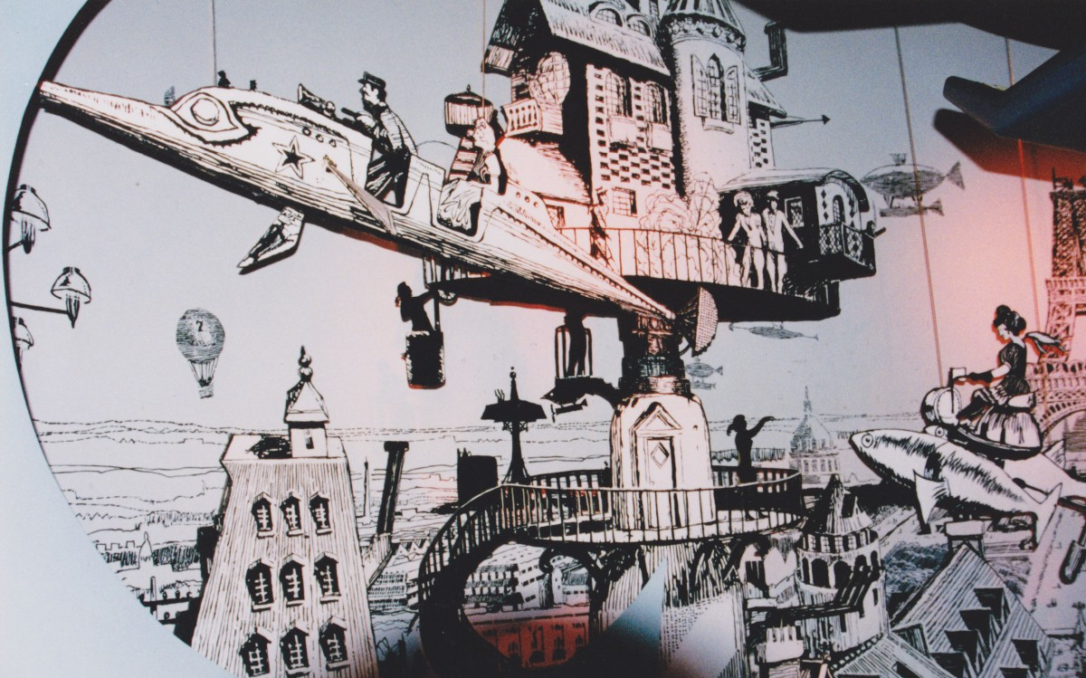 Futurist Albert Robida Scene