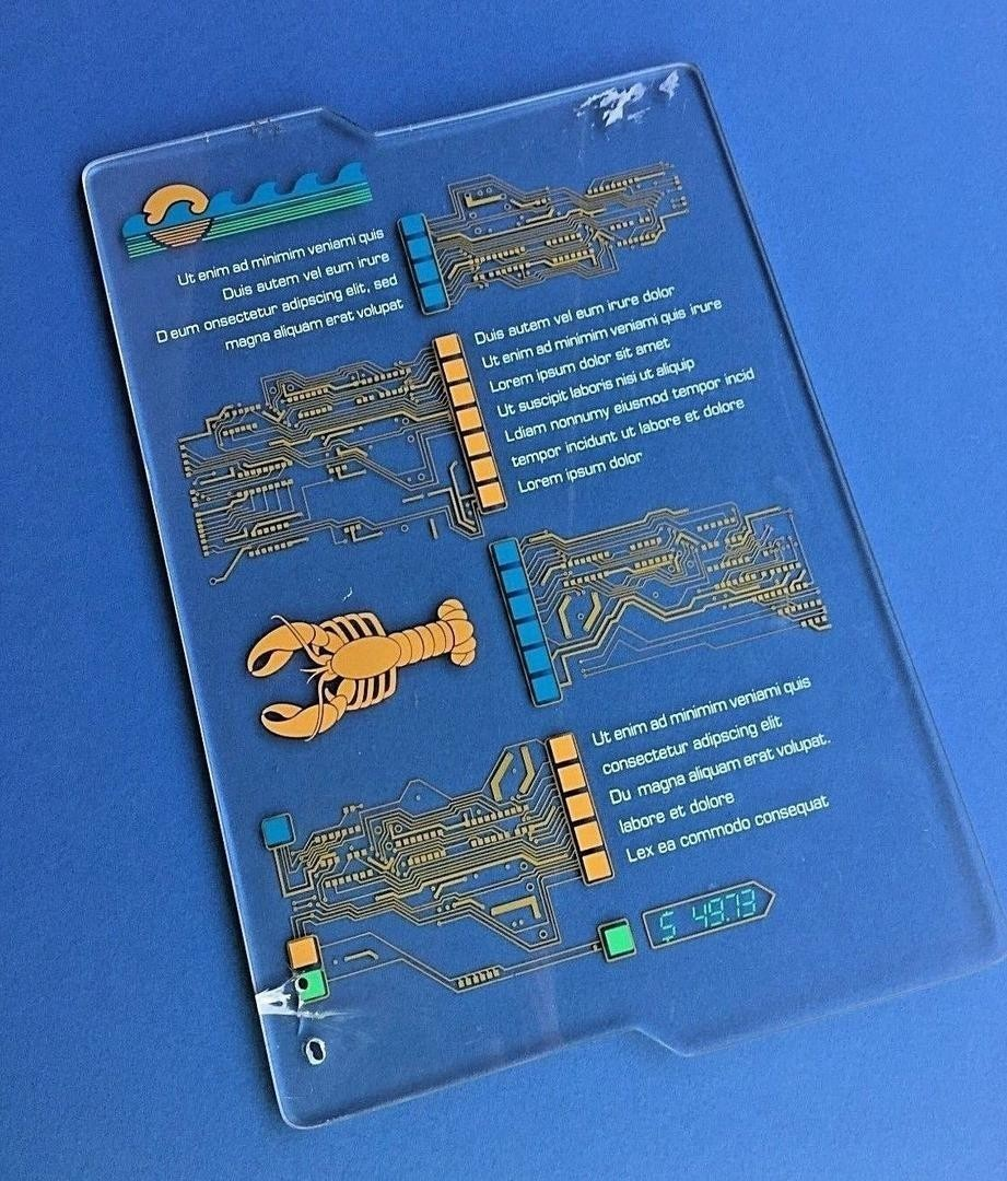 Acrylic Menu Used by AA Figure in the Underwater City (Sea Castle) Scene