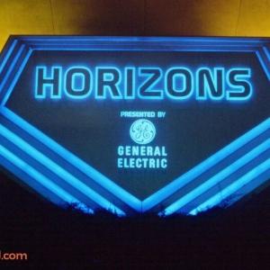 Horizons sign at night