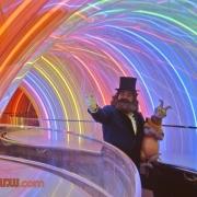 Dreamfinder & Figment in Rainbow Corridor