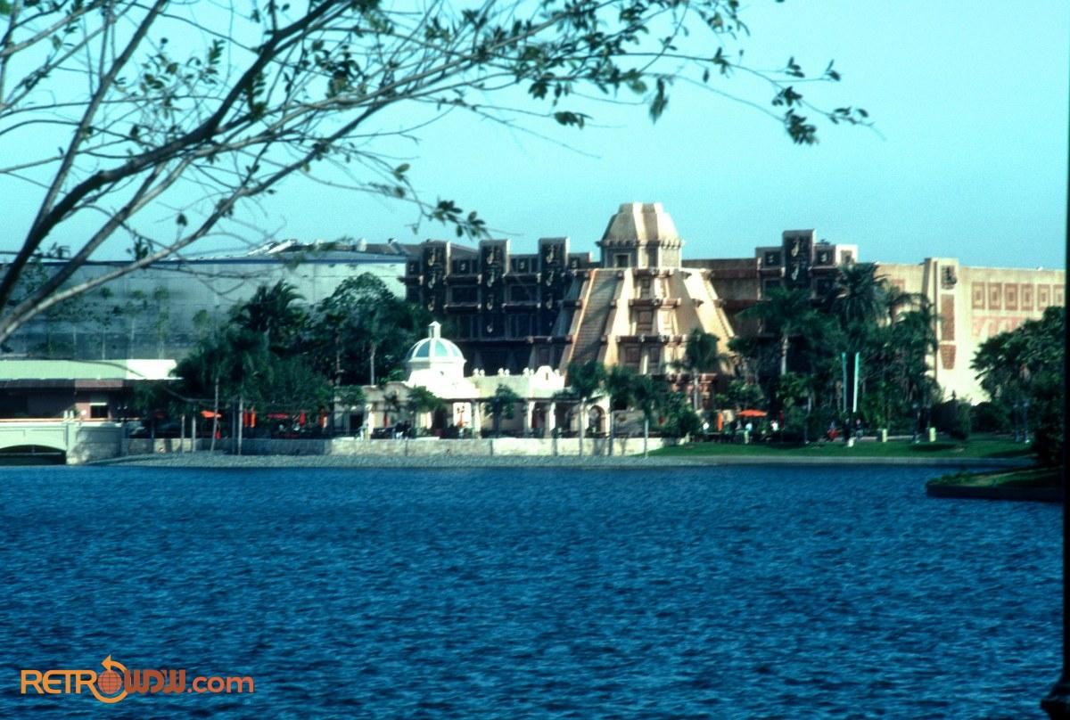 Mexico Pavilion seen across World Showcase Lagoon