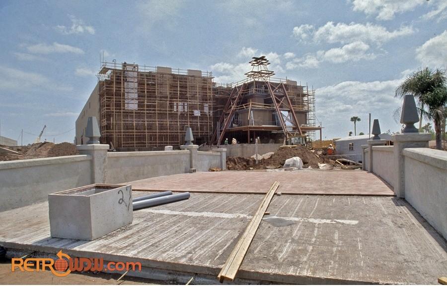 EPCOT Mexico Pavilion under construction