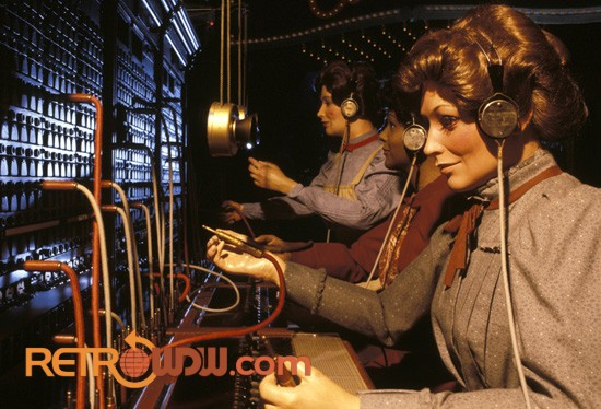 Closeup of the Telephone Operator Scene - Spaceship Earth
