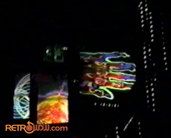 Descent scene - screens and lights - Spaceship Earth