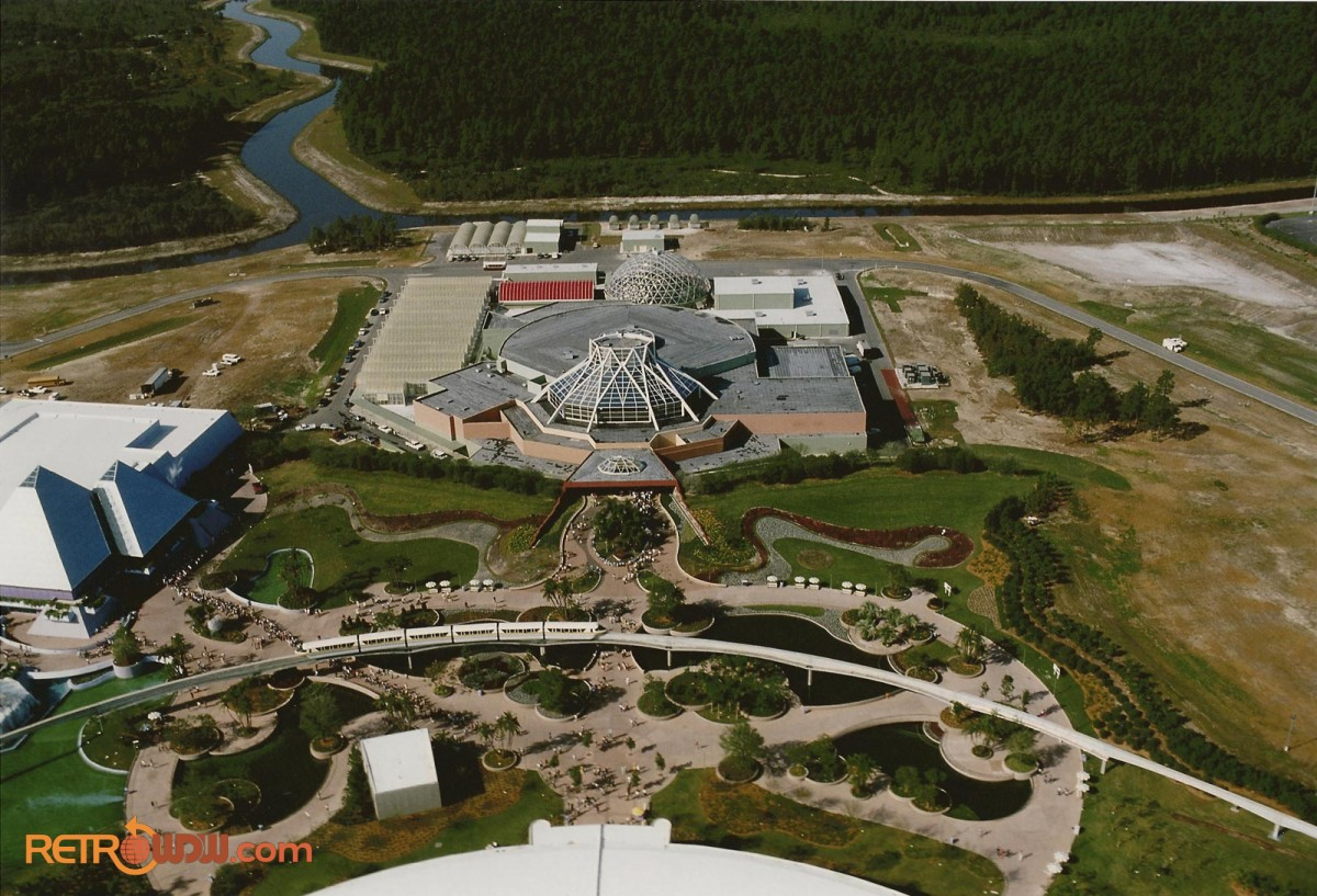 Aerial of the Land Pavilion and Journey Into Imagination