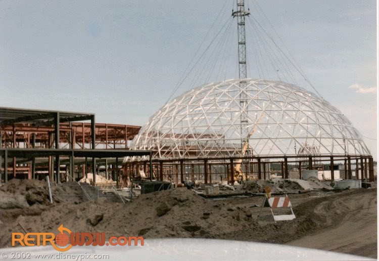 The Land Pavilion's Dome Greenhouse Under Construction