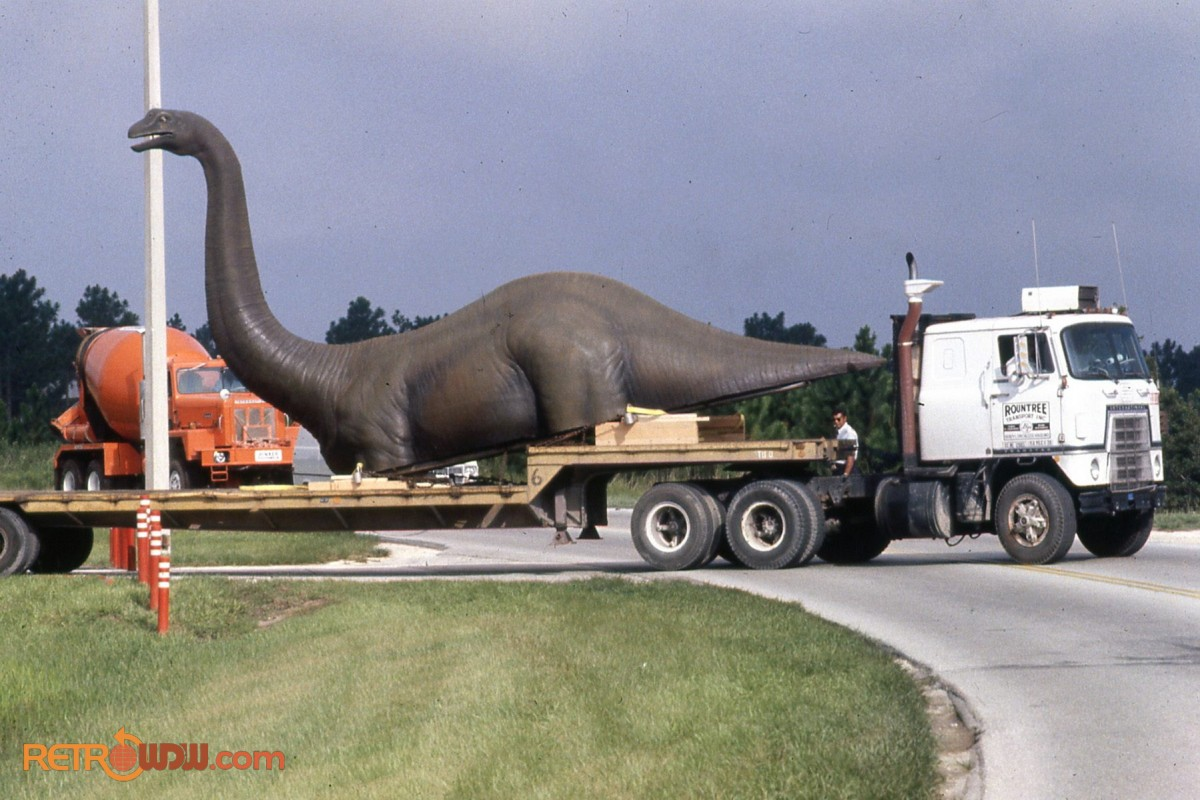 Brontosaurus Arriving at EPCOT
