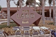 The Land entrance sign