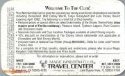 1993 Magic Kingdom Club Membership Card - Back