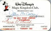 1993 Magic Kingdom Club Membership Card