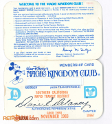 Magic Kingdom Club Card Front