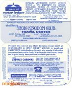 Magic Kingdom Club Card Rear