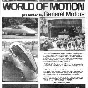 World of Motion Adverstisement