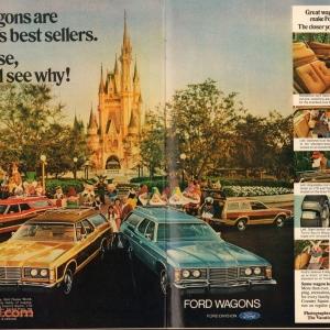 Walt Disney World Magic Kingdom Ford Wagons Magazine Ad