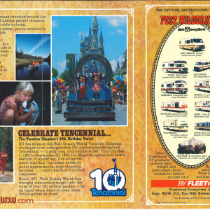 Fort Wilderness Brochure 10th Anniversary
