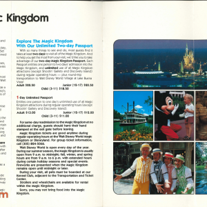 WDW Resort Brochure 10th Anniversary
