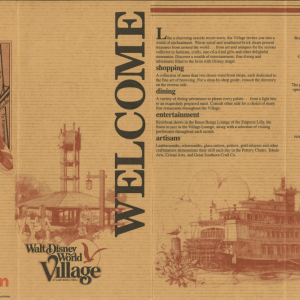 Walt Disney World Village Brochure