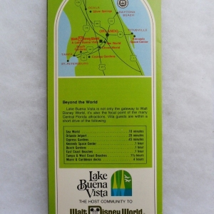 Lake Buena Vista Brochure Rear