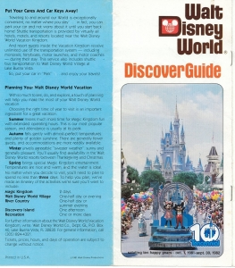1982 WDW Discover Guide - Pg1