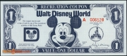 1971 - $1 - Recreation Coupon - WDW - Front