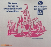 Eastern Airlines WDW Napkin
