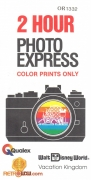 WDW 2 Hour Photo Express Envelope (front)