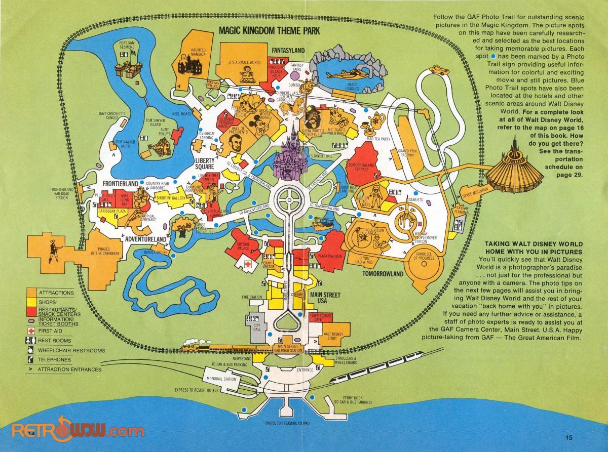 Adventureland Disney World Map.Walt Disney World Guidebooks Pamphlets Retrowdw