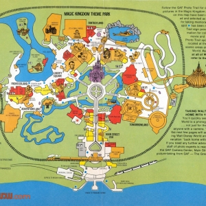 1977 WDW Guide - Magic Kingdom Map