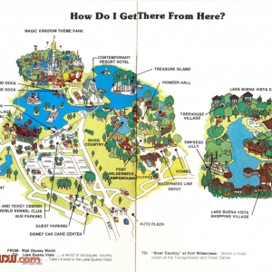 1977 WDW Guide - Resort Map