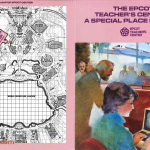 EPCOT Center Teacher's Center Pamphlet (Cover)