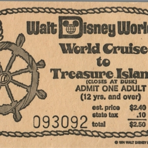 1974 World Cruise to Discovery Island Ticket
