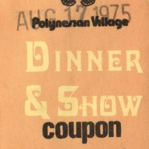 Polynesian Vilage Dinner Show Coupon
