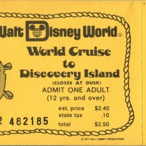 1977 World Cruise to Discovery Island Ticket