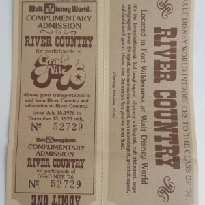 Grad Night '76 River Country Ticket