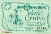 "1970's WDW ""World Cruise"" Ticket"